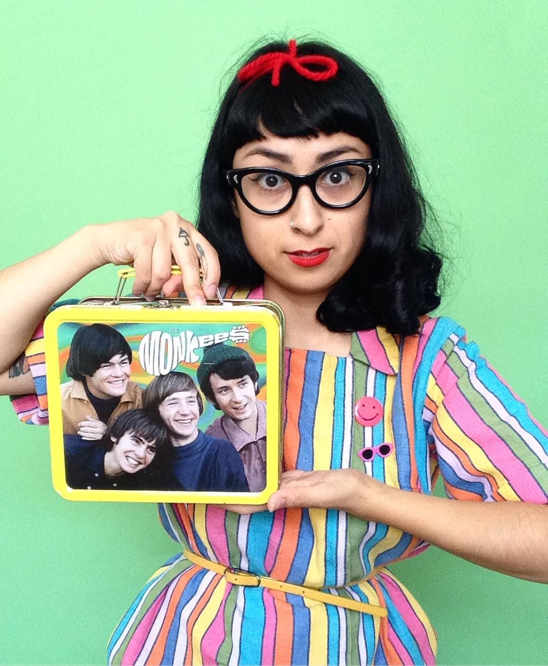 I don't think I have ever squealed as loud as I did today when I found this Monkees lunch box. #thesmallvictories