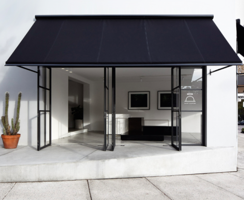 Black Awning Cafe Exterior Outdoor Awnings Cafe Design