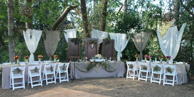 Romantic Outdoor Fall Wedding: Rustic Wedding Reception, Head Table Ideas, Fall Outdoor