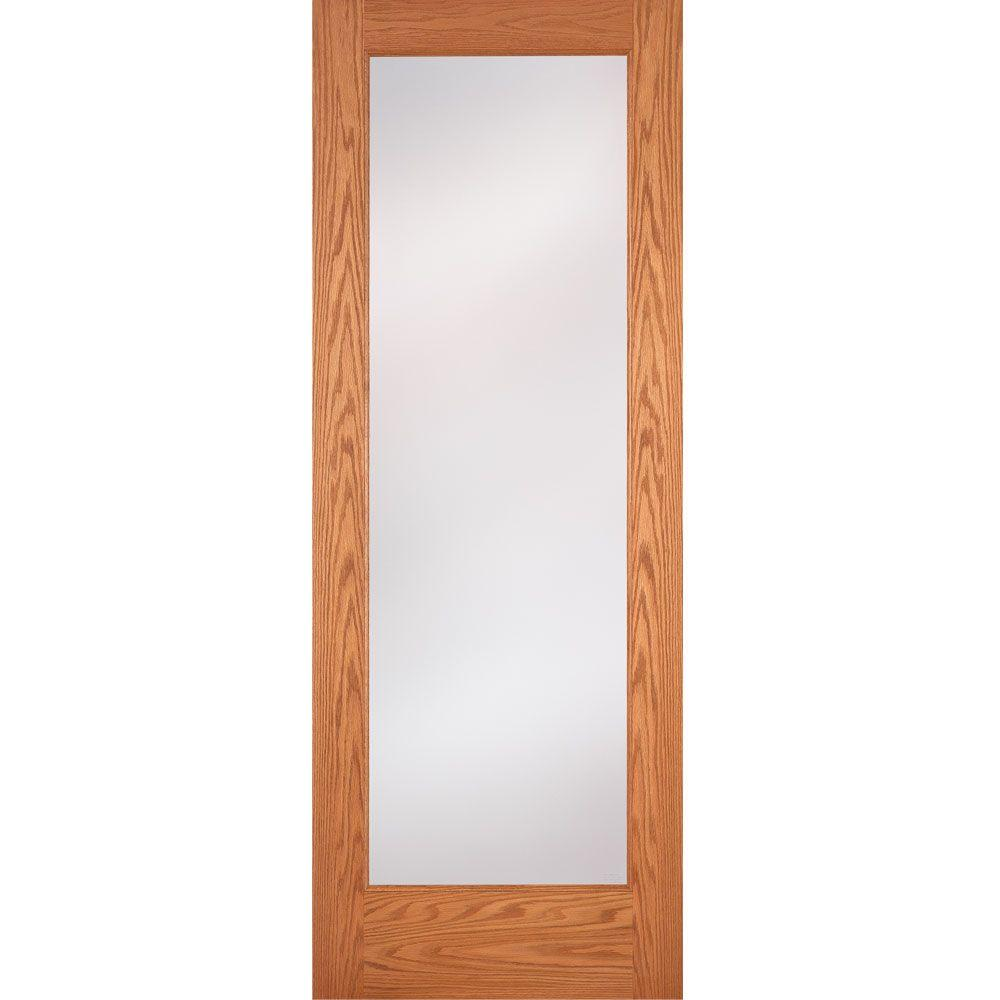 Feather River Doors 36 In X 80 In 1 Lite Unfinished Oak Privacy