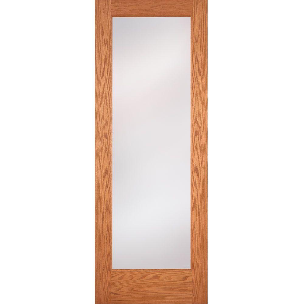 Feather River Doors 32 In X 80 In 1 Lite Unfinished Oak Privacy Woodgrain Interior Door Slab On15012868e680 Oak Interior Doors Doors Interior Slab Door