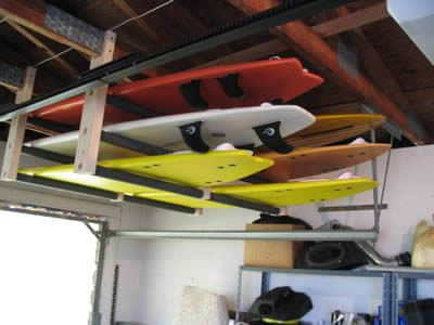Need Boards And Bikes Up On The Ceiling Surfboard Storage