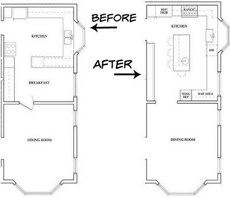 kitchen remodeling floor plans free