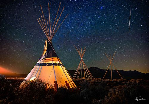 Taos Teepee and Meteor | This is a timelapse still frame tha… | Flickr