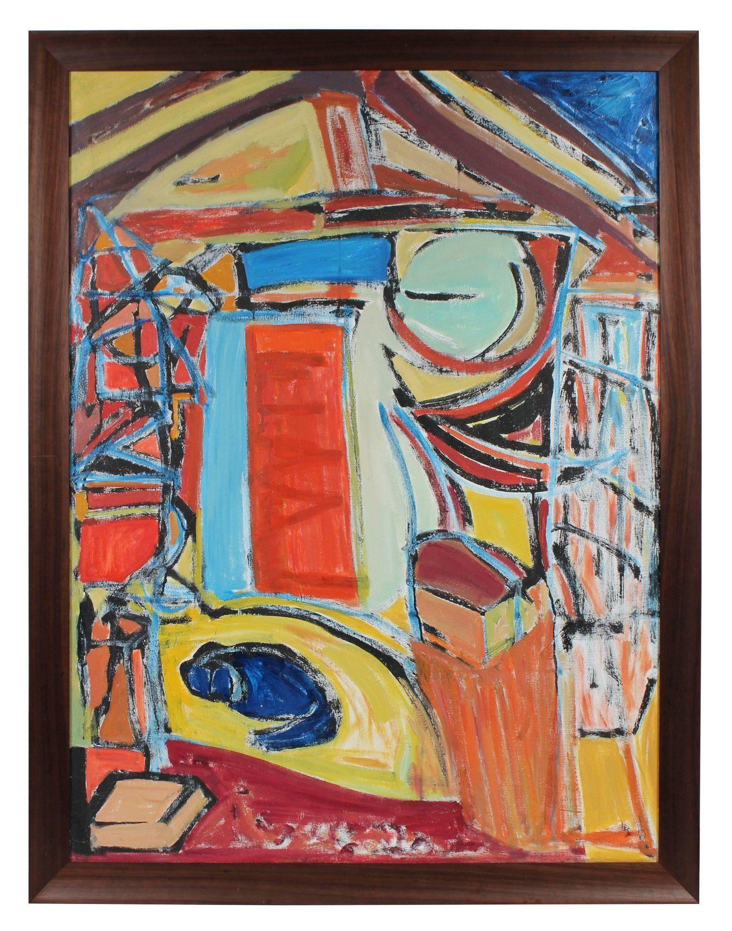 The Artists Studio In Paris, Mid 20Th Century, Oil Painting