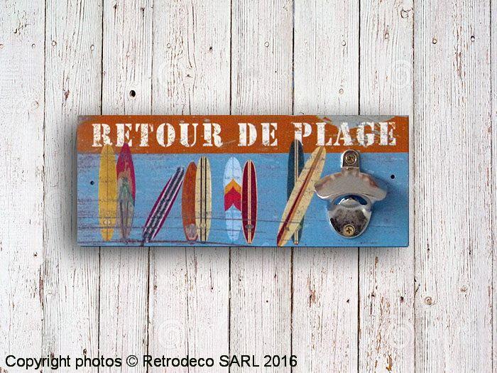 Décapsuleur mural en bois Retour de plage pour une déco d'ambiance bord de mer…