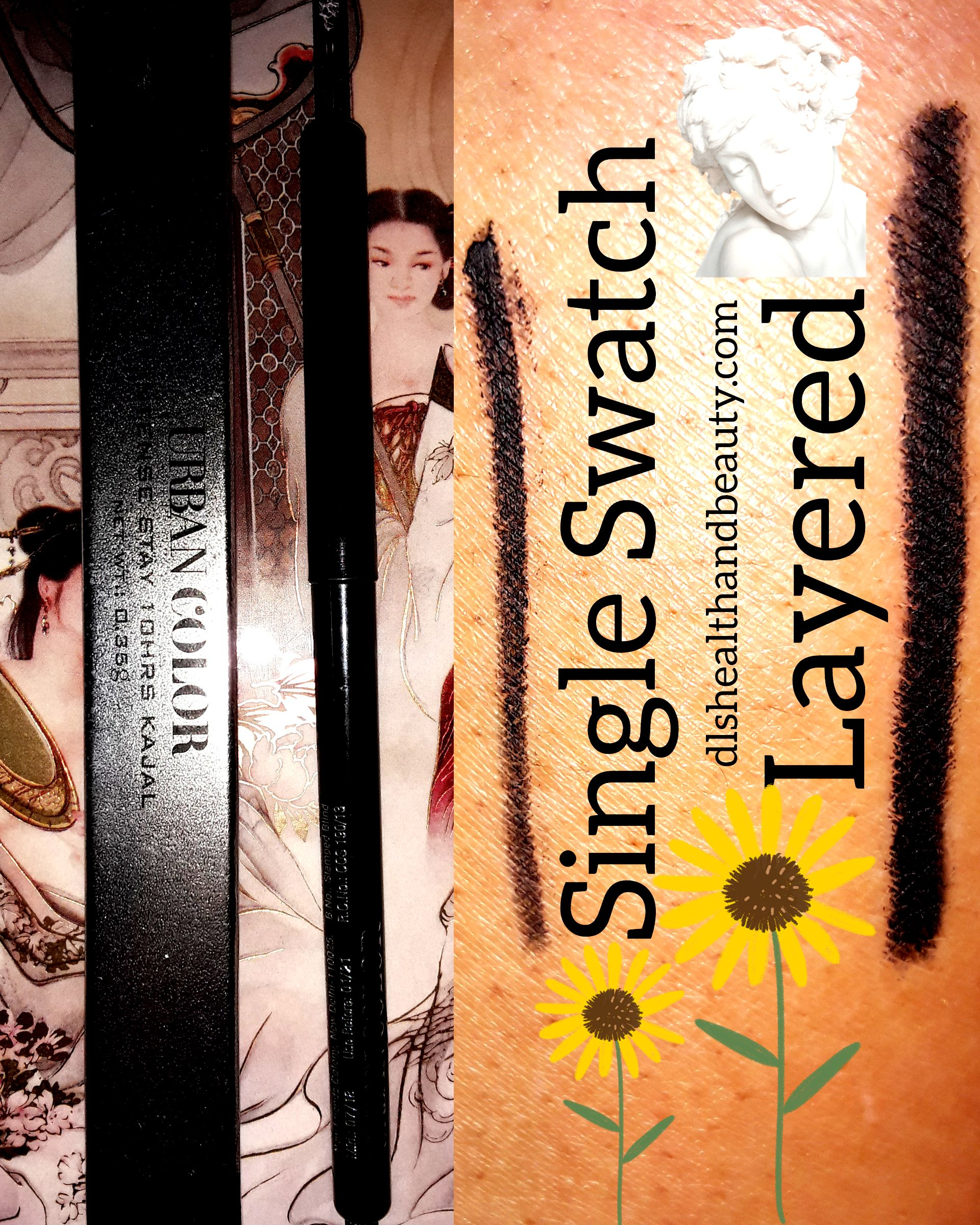 Product Review: Mineral Herbal Organic Natural Urban Color Intense Stay 10Hrs Kajal In Blackest Black मेकअप आईलाइनर की समीक्षा - काजल आईलाइनर
