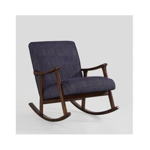 Wooden Rocking Chair - Living Room Furniture - Modern Mid Century Rocker Glider - Chairs