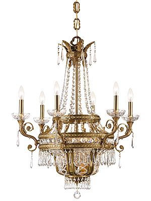 Brass crystal neo classical chandelier glass crystal brass crystal neo classical chandelier aloadofball Image collections
