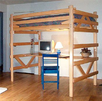 Loft Bed With Desk Underneath On Pinterest Bunk Bed