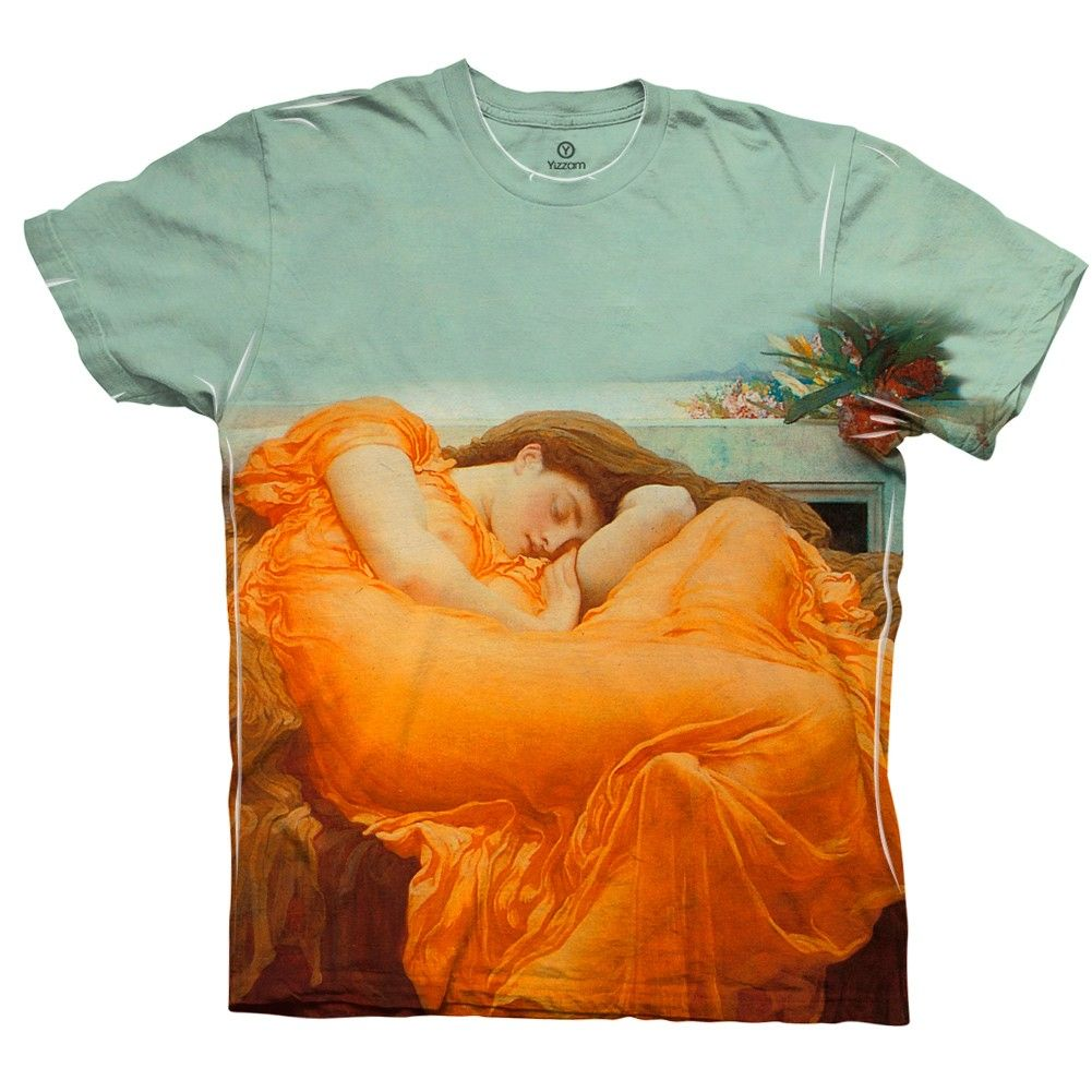 Flaming June on a shirt! Yes please!!!! Lord Frederic Leighton -