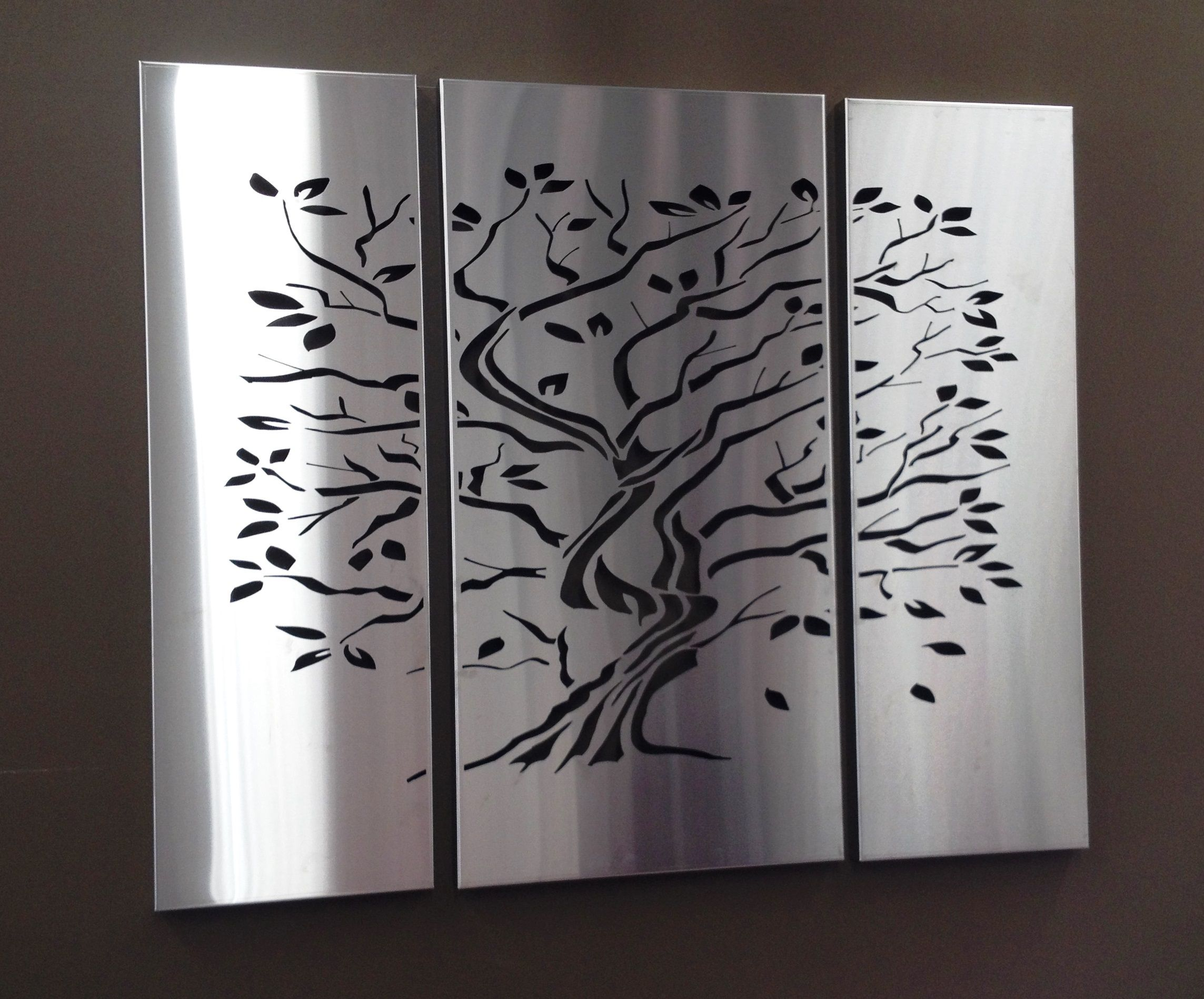 Art Décor: Tree Of Life Laser Cut Screen In Stainless Steel