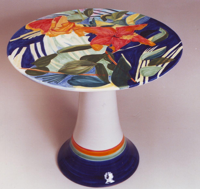 Large Ceramic Table Made Designed In Deruta Italy For Ubaldo Grazia By Mopokeowl Australia Italian Pottery Ceramic Table Deruta