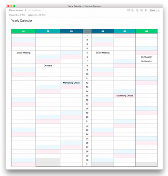 How To Win 2016 With Calendars Checklists And Note Links Screen