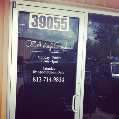 Business Door Decals