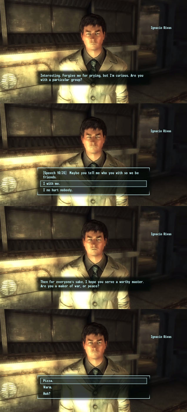 Fallout Dialogue Is The Greatest  (Low Intelligence