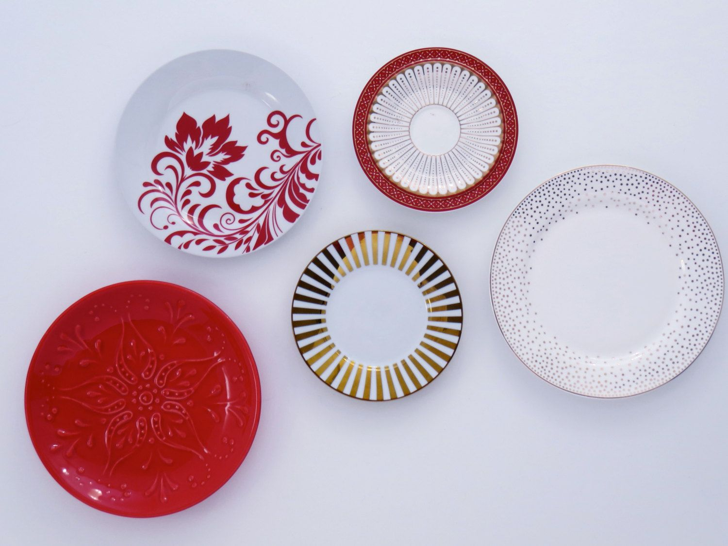 Kitchen Wall Decor Mismatched Decorative Plates Plate One Of A Kind Art