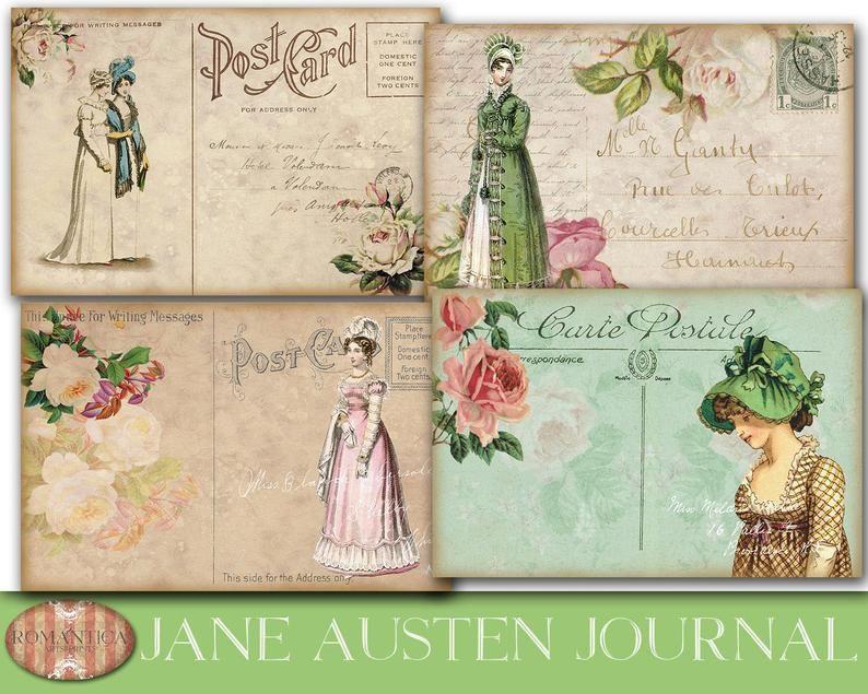 Digital Download Jane Austen Regency Era Journal Pages  5 sheets