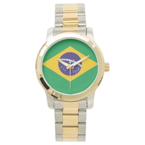 Brazil flag Brazilian wrsit watch