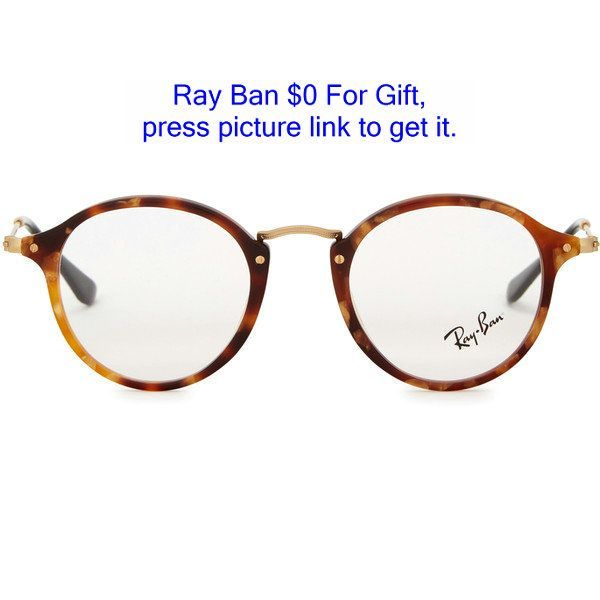 bef7a64b27 Ray-Ban Tortoiseshell round-frame optical glasses (550 BRL) ❤ liked on  Polyvore featuring mens fashion