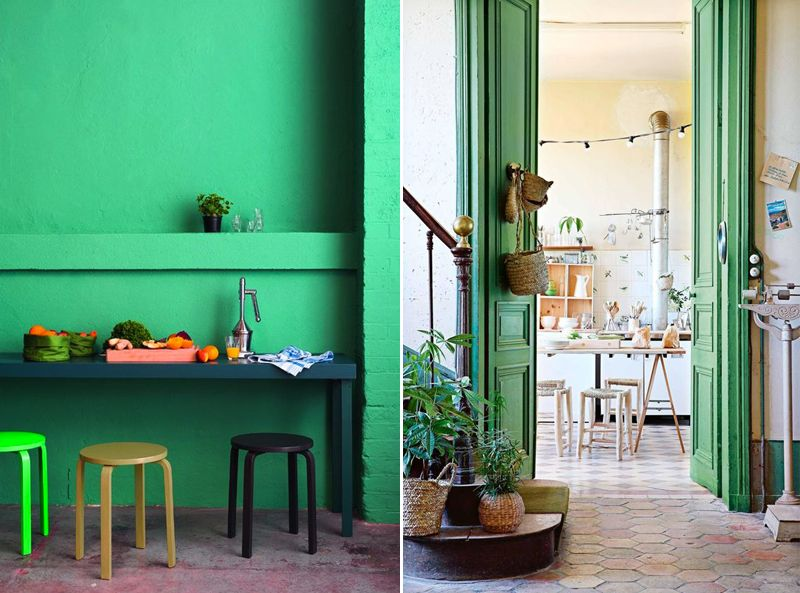 Focus vert greenery couleur Pantone 2017 Vert frais et lumineux