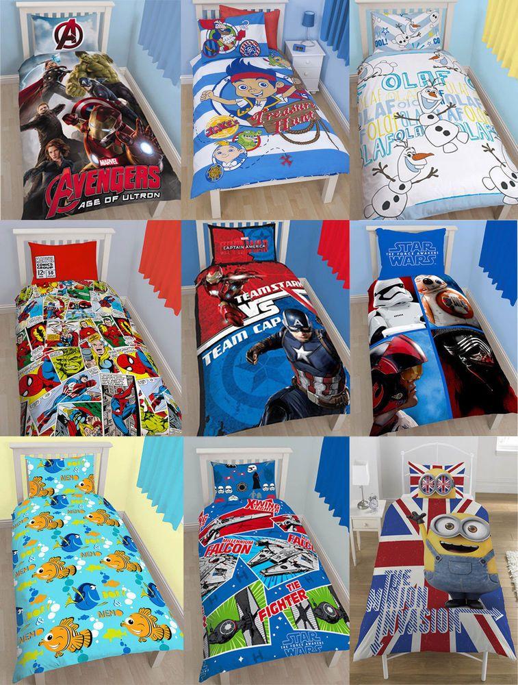 Kinder Character Themed Single Doppel Bettdecke Set Abdeckung