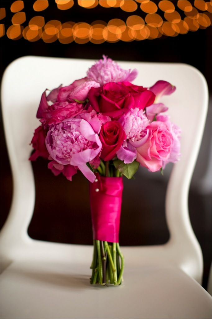 Bright pink wedding bouquet love the idea of a combination of bright pink wedding bouquet love the idea of a combination of different kinds of flowers mightylinksfo