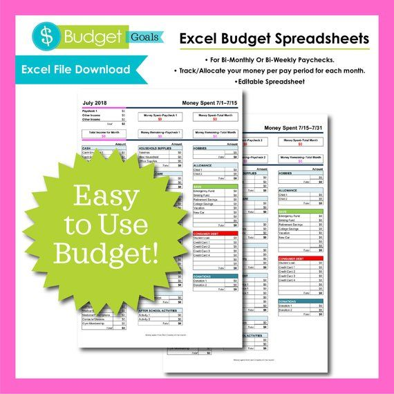 Excel Budget Spreadsheet Budget Digital Household Budget - How To Make A Household Budget Spreadsheet
