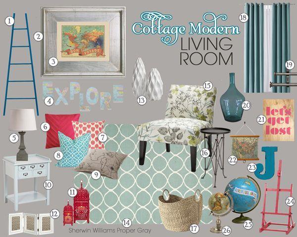7036943141163727 Cottage Modern Living Room Mood Board