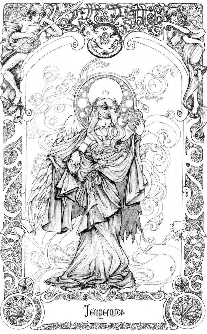 Tarot LF: Temperance by blinkgdl on deviantART | Art Nouveau ...
