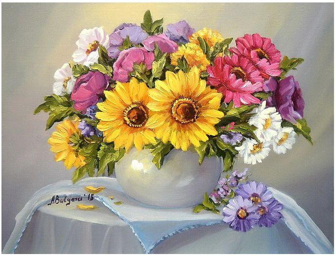 FLORILE-MARIEI-40X30-cm-prezentare | Цветочное искусство ...