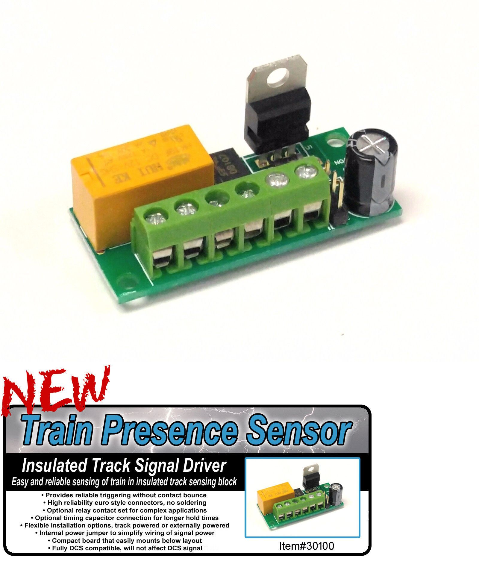hight resolution of parts and spares 180251 30100 train presence sensor for insulated track o gauge buy it now only 29 99 on ebay parts spares train presence