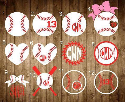Baseball decal baseball Monogram decal by SapphirePearlDesigns