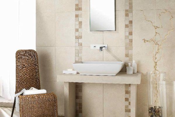 Le carrelage mural de salle de bain - carrelage en pierre naturelle salle de bain