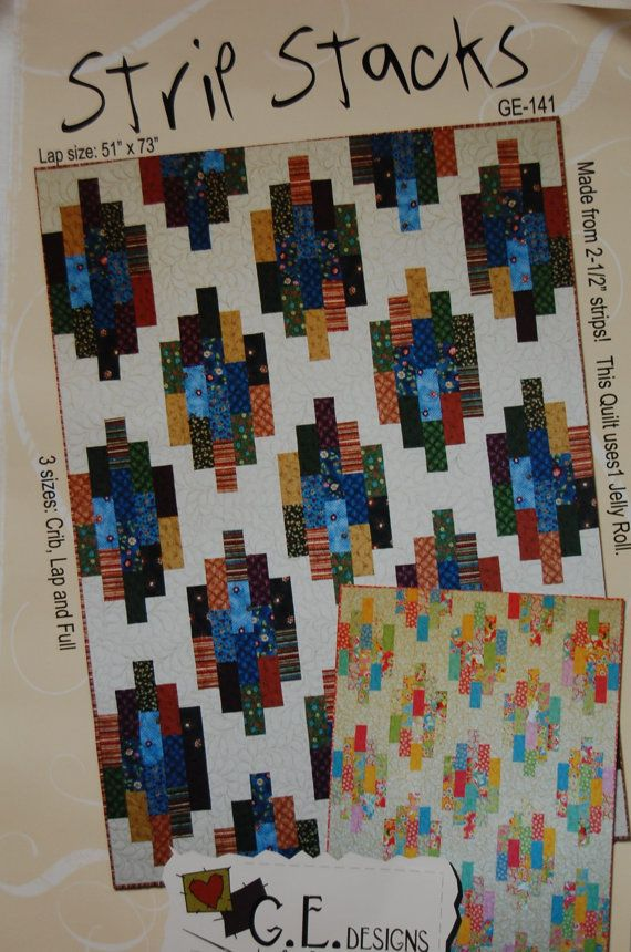 Strip Stacks Quilt Pattern Quilts Pinterest Patterns Etsy And