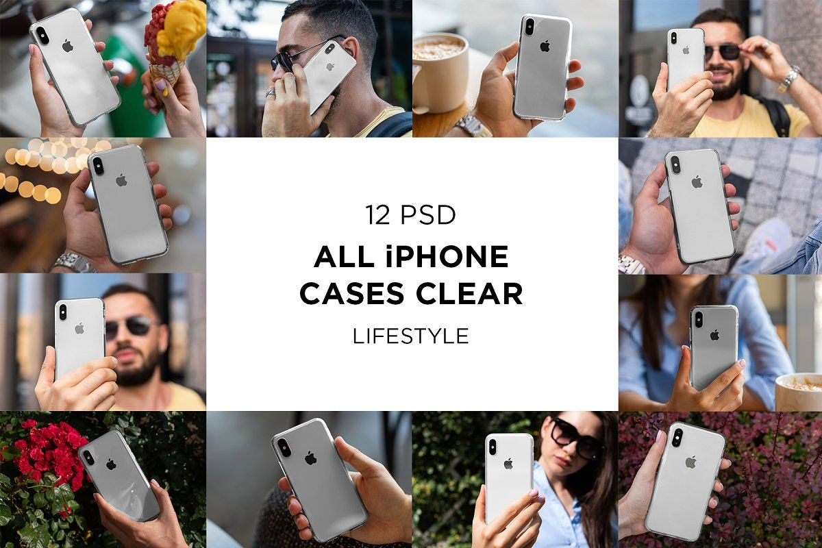 Download Iphone Clear Cases Lifestyle Mock Up Clear Iphone Case Clear Cases Postcard Mockup