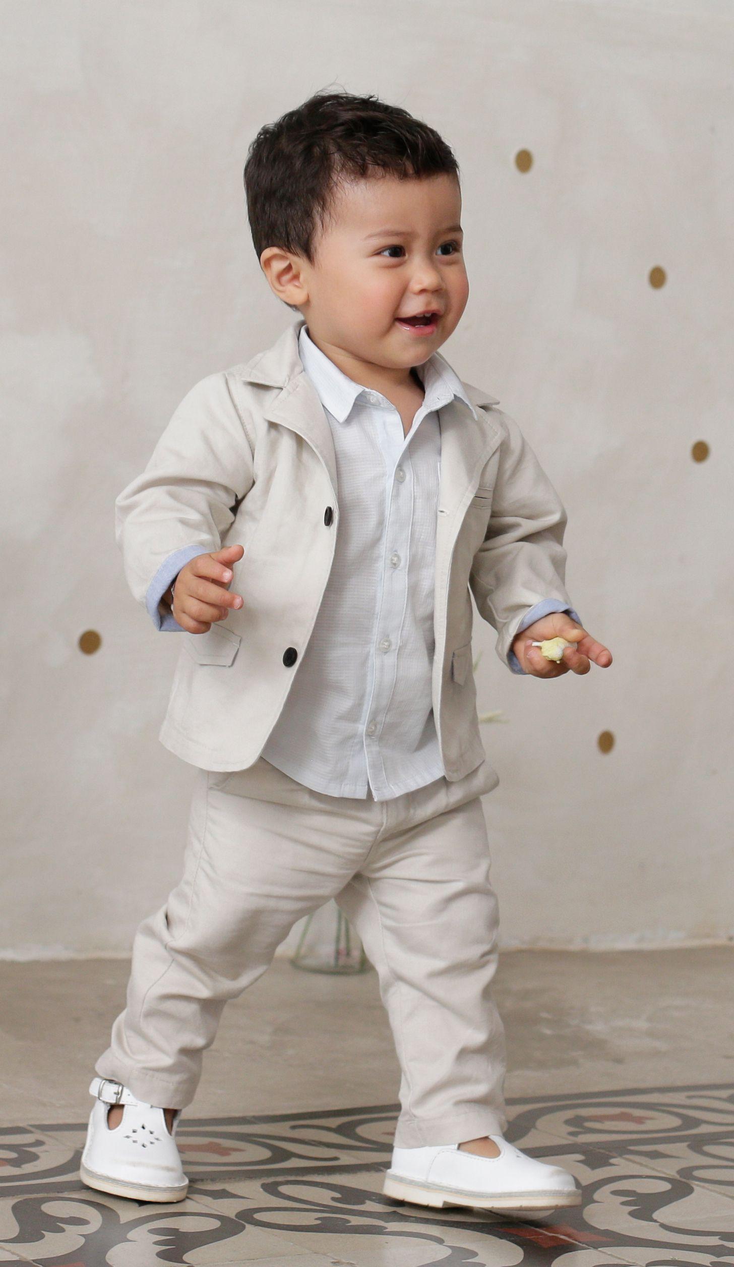 Conjunto chaqueta camisa pantal³n algod³n y lino