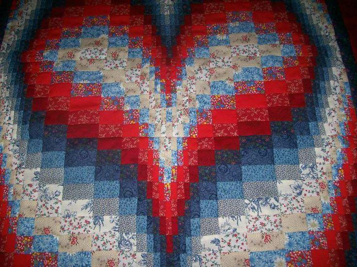 Free Bargello Heart Quilt Pattern Bargello Heart Heart