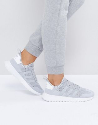 super cute 52a07 8c73b adidas Originals Primeknit Gray FLB Racer Sneakers