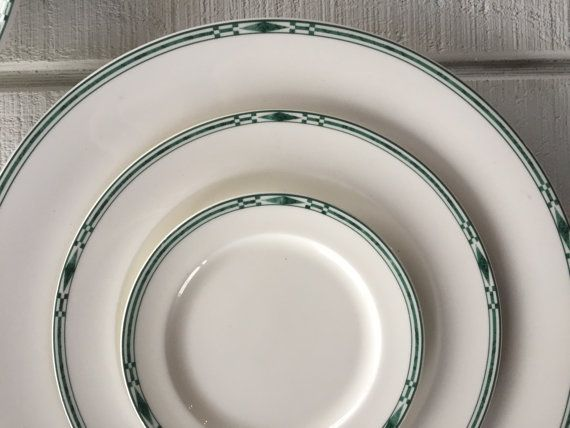 Fine China Candy Dish Replacement China Vintage China Bowl with Fluted Edge Lenox China Bowl Elegant Green Bowl with Gold Trim