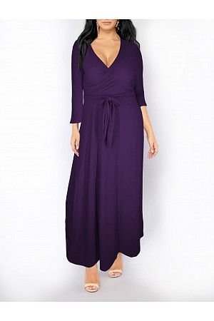 d35905dcf53 Joseph's Place | 2636 PLUM| Loren's Plus Size Maxi Dress Plus Size Long Maxi  Dress
