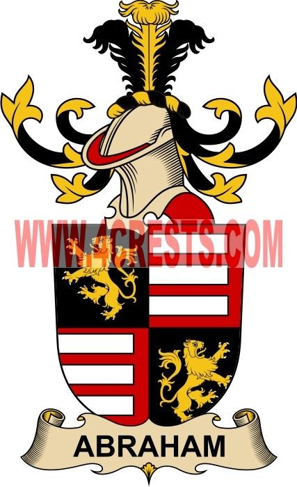 Abraham Coat Of Arms Family Crest By Name Symbol Heraldry Code