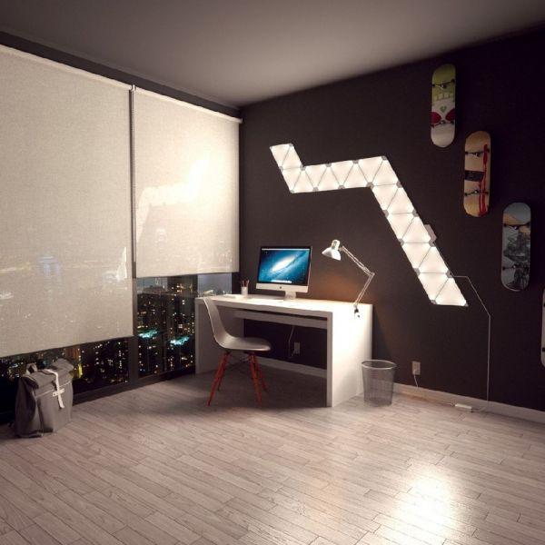 Nanoleaf Aurora Rhythm Starter Kit, 15er Pack Pinterest Starter - led leuchten wohnzimmer