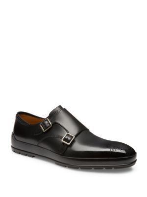 Bromiel Black, Mens leather oxford shoe in black Bally