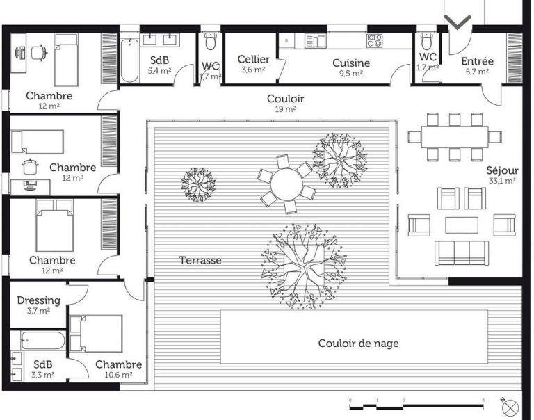 Plan Maison En U Avec Piscine Plan Maison 8