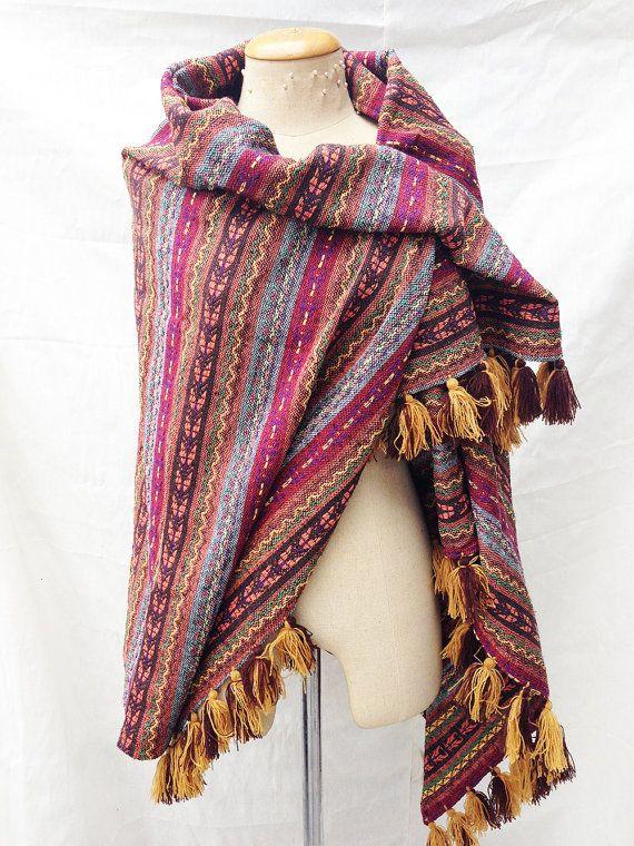 Tribal Aztec Blanket Bohemian Blanket by MagnifiqueBangkok on Etsy