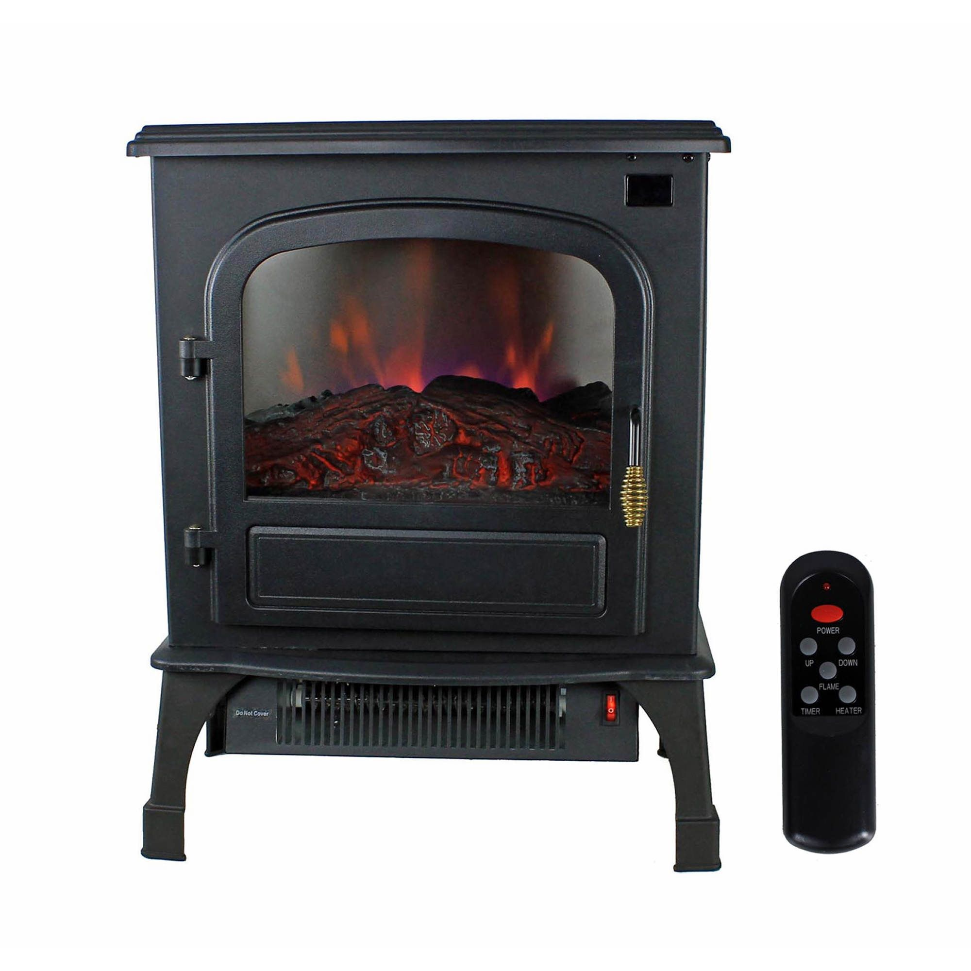 Warm Living 1,500W Infrared Deluxe Home Electric Fireplace