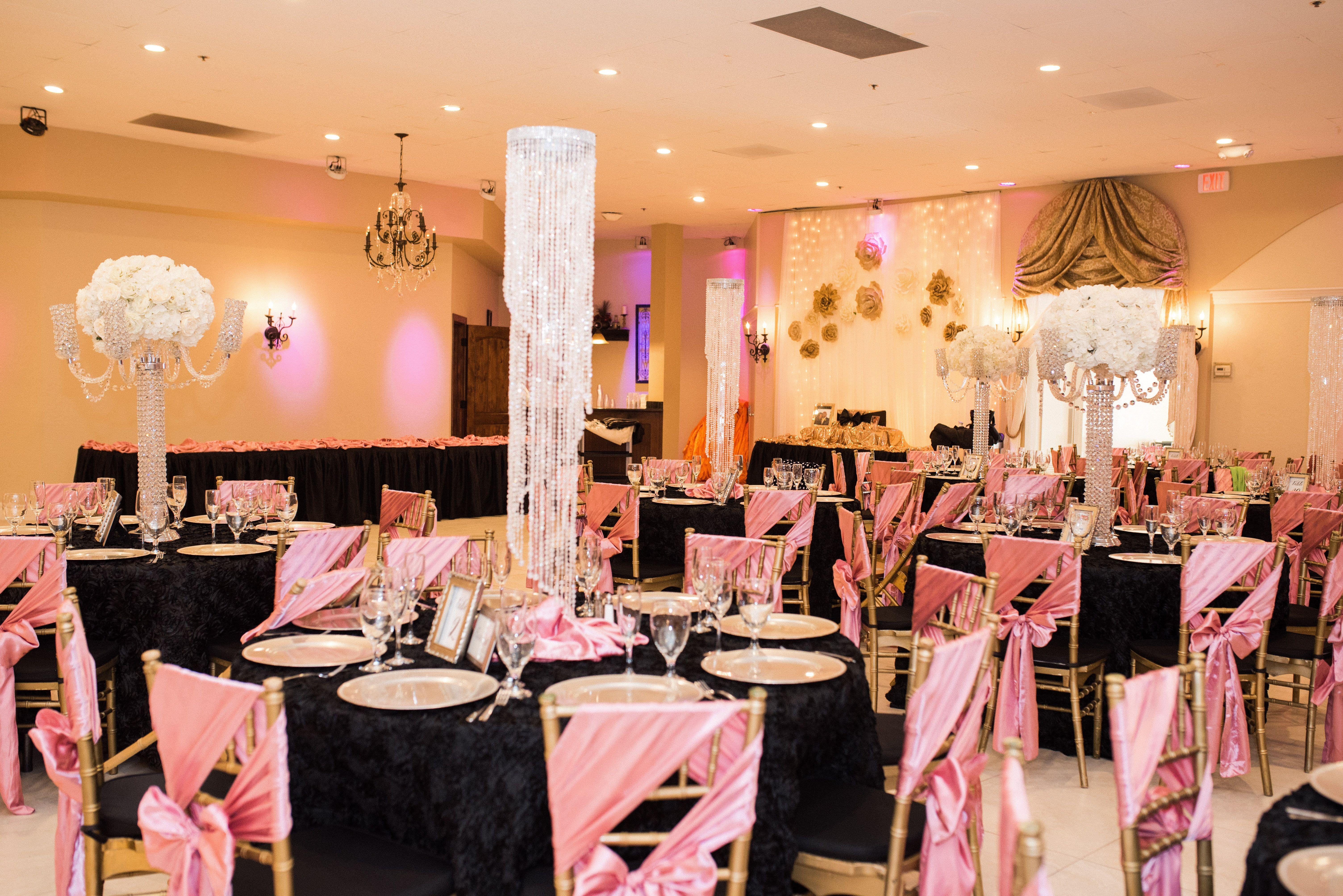 Black And Rose Gold Wedding Decor Arizona Wedding Photographers Villa Tuscana Pink Wedding Decorations Gold Reception Rose Gold Wedding