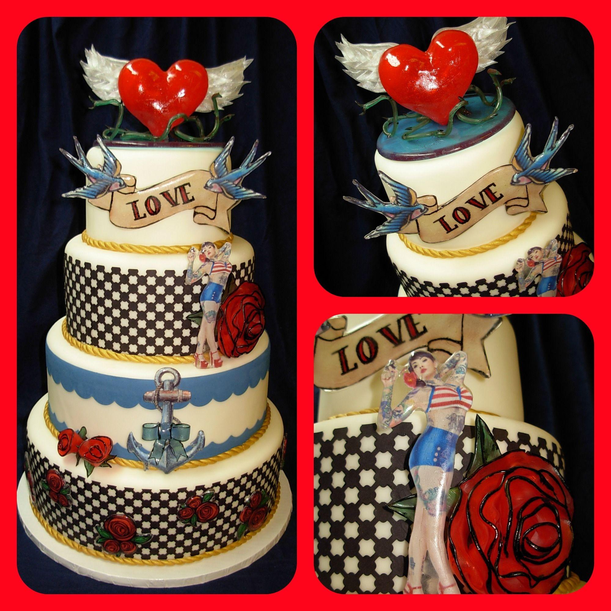 Rockabilly Wedding Ideas: Rockabilly Cake By Sidney Galpern Of Simi Cakes