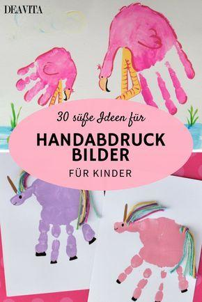 Die meisten Kinder lieben diese Maltechnik: Hände oder Füße anmalen ...